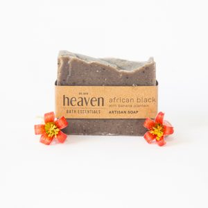 African Black soap with shea butter and infused with roasted banana